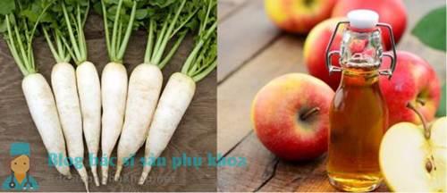 Chữa u nang buồng trứng bằng giấm táo và củ cải
