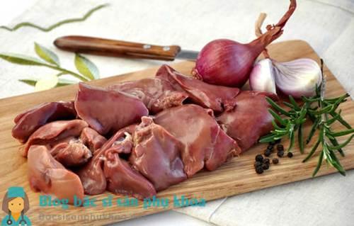 U xơ tử cung nên kiêng loại thịt màu đỏ và nội tạng